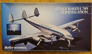 Heller LOCKHEED L749 CONSTELLATION 1/72 Scale Model Kit. BONUS QANTAS DECALS!