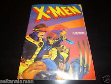 UNIQUE VINTAGE GREEK X - MEN TRADING CARDS  STICKERS ALBUM BY CAROUSEL 1992