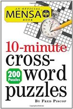 Mensa 10-Minute Crossword Puzzles by Fred Piscop