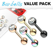 4er Pack Zungenpiercings Ferido Kristalle