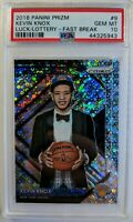 18-19 Panini Prizm Fast Break Luck of the Lottery Kevin Knox #9, PSA 10, Pop 10