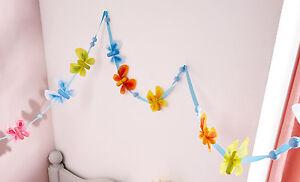 HABA Girlande Schmetterlingsfreunde 301521 Stoffgirlande 180 cm +BONUS