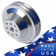 Billet Aluminum Water Pump Pulley V-Belt SWP 396 427 454 BBC 2 Groove