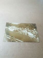 More details for old rp postcard. charabanc and passengers.   t/777