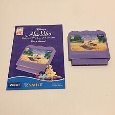 V-tech V-Smile Game Cartridge With Manual- Disney Aladdin's Wonders Of The World
