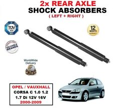 REAR SHOCK ABSORBERS for OPEL VAUXHALL CORSA C 1.0 1.2 1.7 Di 12V 16V 2000-2009