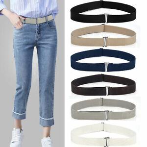 Women's Adjustable Slim Buckle-free Elastic Invisible Belt Seamless Jeans Belt