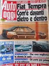 Auto OGGI n°161-162 1990 Opel Omega - Citroen BX GTI 4x4 - Fiat Tempra  [Q201]