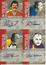 2008-09 IN THE GAME BETWEEN THE PIPES GERRY CHEEVERS AUTOGRAPH
