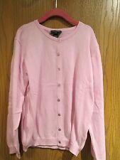 Oscar de la Renta Pink Cotton Cardigan Sweater Size 12Y