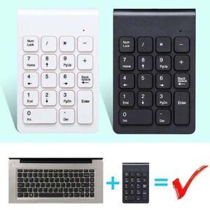 2.4Ghz Mini Wireless USB Number Pad Numeric Keypad 18 keys Keyboard