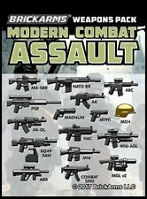 BrickArms Modern Combat Assault Weapons/Accessories Pack for Minifigures NEW