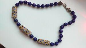 Vintage venetian millefiori trade beads necklace