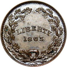 1863 Liberty Union Patriotic Civil War Token