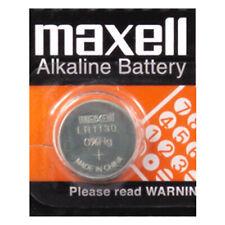 Maxell 389 390 AG10 LR54 LR1130L SR1130W Pila Batteria Mercury Free 0 Hg 1.5V