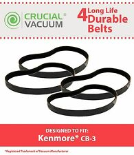 4 Durable Kenmore CB-3 CB3 Belts Fit Powermate Canister Vacuums Part # 20-5218