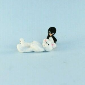 OOAK~Polar Bear~Penguin~Handmade~Artist Doll~Dollhouse Baby Toy~Cheryl Brown