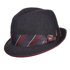 SCALA * MENS GREY WOOL FEDORA HAT * M * BLUES BROTHERS CRUSHABLE LINED GODFATHER