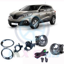 Chrome Bumper Bezel Fog Light Lamp bracket Harness Kit For Renault Kadjar 2015+