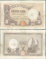 100 LIRE MATRICE LATERALE DEC.06 MARZO  1926 R@RO 2
