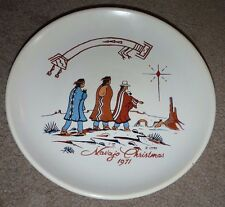 "1971 NAVAJO CHRISTMAS 10"" PLATE NATIVE AMERICAN NOVELTY KAY MALLEK FIRST ISSUE"