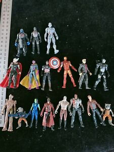Marvel Bulk Lot of 17 Action Figures + Gadgets weapons As Is. All VGC