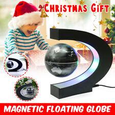 Magnetic Floating Globe Levitation Rotating C Shape LED World Map Home Decor