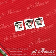 3 Adesivi Resinati Sticker 3D Ducati Corse Old Tricolore Italia micro 10 mm