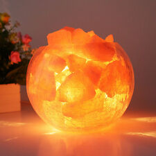 Natural Himalayan Air Purifier Rock Salt Egg Ball Block for Salt Light Lamp`