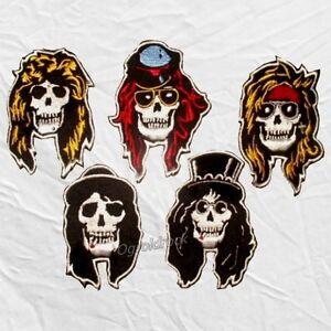 Set Guns N' Roses Embroidered Patches Skulls Axl Rose Slash Steven Adler Izzy