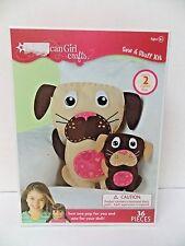American Girl Crafts Sew & Stuff Kit Stuffed Dogs New