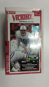 2000 NFL VICTORY SEALED HOBBY BOX - Tom Brady RC ??   / 2000 Upper Deck Football