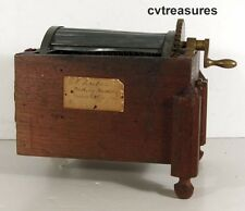 1875 PATENT MODEL Salesman Sample MECHANICAL WASHING MACHINE WITH PATENT TAG