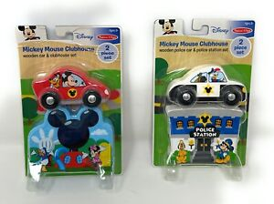 Melissa and Doug Mickey Mouse & Friends Clubhouse Police Station Car - Lot of 2