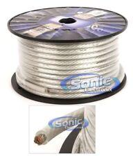 STINGER SHW14C-100 HPM 4 AWG MATTE CLEAR 100 FEET HYPER-FLEX POWER GROUND CABLE