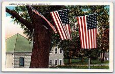 Historic Scythe Tree near Geneva, New York Seneca County White Border Postcard