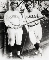 Lou Gehrig Babe Ruth New York Yankees UNSIGNED 8x10 Photo