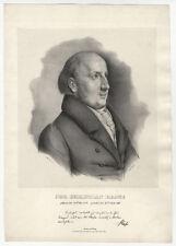 Portrait: Johann Christian Hasse (1779 Kiel - 1830 Bonn).- Lithographie, um 1850