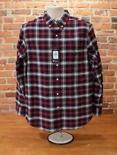 Nwt Men's Chaps Classic Oxford Checked Long Sleeve Button Down Shirt Sz M  {F01}