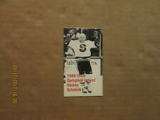 AHL Springfield Indians Vintage Defunct 1988-1989 Logo Hockey Pocket Schedule