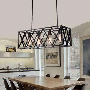 Modern Flush Mount Ceiling Light Large Chandelier Lighting Black Pendant Light