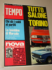 TEMPO=1971/45=SALONE AUTO TORINO=ALFA SUD=FIAT 128=KARL PLATTNER=MOSTRO MARSALA=