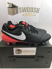 Nike Tiempo Legend VI FG Soccer Cleats Black White Orange Volt SZ 7 819177-018
