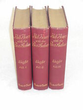 Charles Knight - HALF-HOURS WITH THE BEST AUTHORS - 6 vol's in 3 - circa 1900