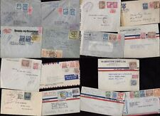 COLOMBIA Collection...18 COVERS...REGISTERED...CENSOR.....AIR 1940s