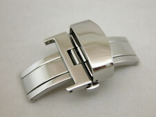 CLASSIC 16MM Deployment Buckle Double Clasp POLISHED Stainless Steel
