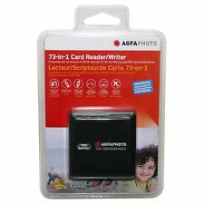 AGFA 73-in-1 Card Reader/Writer f/ SD/HC, MicroSD, CF,XD, MS/Pro Duo & SIMCard