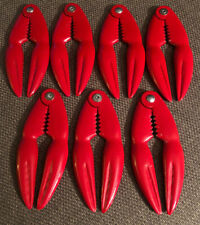 Lot Of 7 Red Lobster Claw Shell Crackers