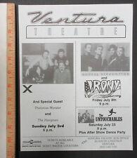X SOCIAL DISTORTION UNTOUCHABLES Ventura Theatre 1990 PUNK Concert FLYER