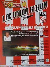 Programm 2006/07 Union Berlin - RW Erfurt